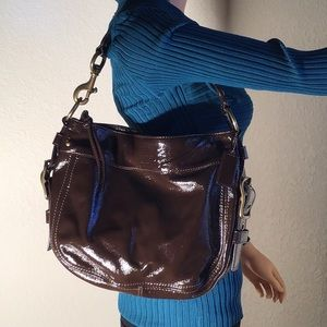 Coach Purse Brown Patent Leather